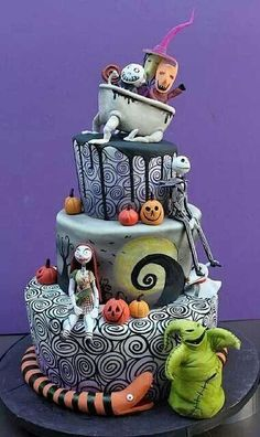 Cake Wrecks - Home - Sundays Sweets: Tim BurtonTreats! Nightmare Before Christmas ByDina Cimarusti Cakes