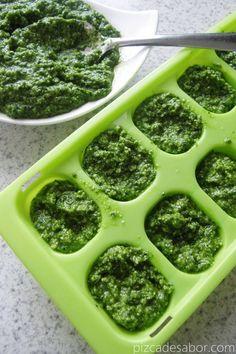 Cómo congelar pesto Comidas Lights, Pasta Al Pesto, Smart Nutrition, Vegan Recipes, Cooking Recipes, Pesto Recipe, Freezer Meals, Raw Vegan, Healthy Drinks