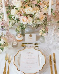 Blush Wedding Table Decorations and Place Setting For a tablescape that is luxur… – Hochzeit - Wedding Table Royal Wedding Themes, Wedding Table Themes, Wedding Table Centerpieces, Wedding Decorations, Royal Weddings, Blush Wedding Theme, Royal Wedding Cakes, Royal Wedding Dresses, Wedding Table Arrangements