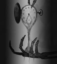 Clock Hourglass Time:  #Watch melting into an #hourglass.
