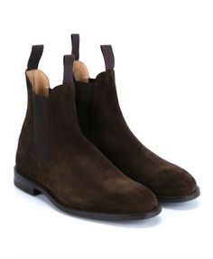 These Tricker's brown suede Chelsea boots are a premium take on a British icon. Made in their English factory, they combine practicality and durability without sacrificing on style. As at home with a suit as they are with jeans, these are classic boots that have a home in every man's wardrobe.