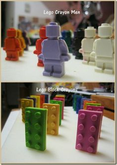 Lego Crayon Men & Blocks, I ed to buy me some of these molds... the kids would love them!