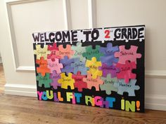 Second grade welcome bulletin board