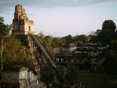 Temple ruins of a Maya city in the Guatemalan jungle, Tikal, Guatemala. Oh The Places You'll Go, Great Places, Places To Travel, Beautiful Places, Places To Visit, Wonderful Places, Tikal, National Geographic Tours, Central America