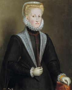 Anne Of Austria, Queen Of Spain, 1573 - Sofonisba Anguissola. Anna of Austria November 1549 – 26 October was Queen of Spain by virtue of her marriage to her uncle, King Philip II of Spain. Noli Me Tangere, Adele, Women Artist, Female Artist, Spanish Netherlands, Female Painters, Renaissance Artists, Italian Renaissance, Religious Paintings