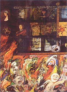 Luis Felipe Noé | Incendio en el Jockey Club 1963