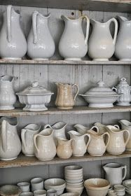 via the grower's daughter | red chair antiques amazing collection...love the pitchers
