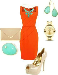 Orange and teal