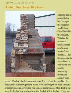 diy fireplace