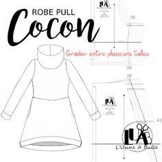 [Robe pull Cocon] Grader entre plusieurs tailles | L'usine à bulle