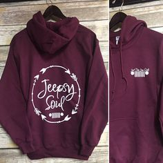 Just For Jeep Girls Logo Hoodie Jeepsy Soul Adult