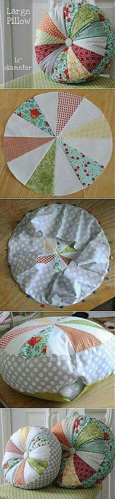 Super Ideas For Sewing Pillows Patchwork Ideas Fabric Crafts, Sewing Crafts, Sewing Projects, Sewing Pillows, Diy Pillows, Throw Pillows, Sewing Hacks, Sewing Tutorials, Quilt Patterns