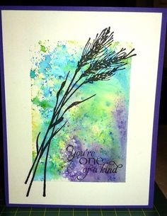 One of a Kind Watercolour Powders by cardmaker86 - Cards and Paper Crafts at Splitcoaststampers