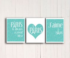 beautiful teal wall decorations for any paris themed bedroom