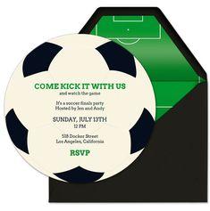 Evite premium soccer invitation