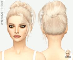 Medium Bun Do-up Hair for The Sims 4