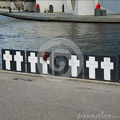 Memorial crosses to the victims of the Wall, Berlin