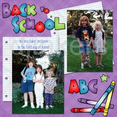 back to school, school scrapbook, school clip art