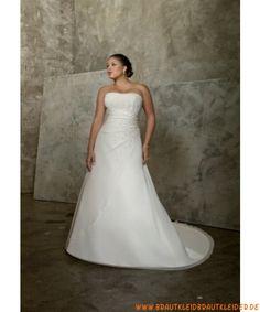 Süßes Brautkleid aus Satin A-Linie