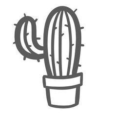 Silhouette Design Store: Cactus In Pot Doodle Silhouette Design, Cactus Silhouette, Kaktus Tattoo, Stencils, Cactus Craft, Doodle Designs, Aesthetic Drawing, Vinyl Crafts, String Art