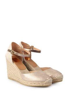 kanna Bast-Wedges Evita Gold bei myClassico - Premium Fashion Online Shop