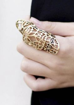Articulated Armour Ring - bold & pretty, statement finger jewellery | www.elinmai.com