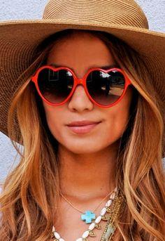 #vintage #fashion #accessories #sunglasses #hearts #hats