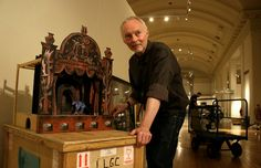 The artist Clive Hicks-Jenkins with a toy theatre of his own design at a major exhibition at the National Library of Wales to celebrate his birthday. Displayed on its own crate. Tunnel Book, Water Fairy, Marionette Puppet, Toy Theatre, Ballet School, Puppet Making, Shadow Puppets, Stage Set, Toy Craft