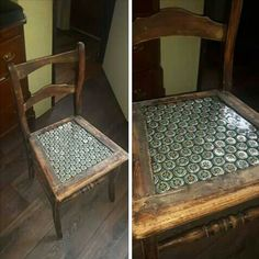 Beer caps epoxy chair