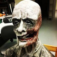 Close up.  #sculpture #ceramics #konstfack #creepy #monster #craft #ghost #horror #teeth #sculpey #polymer