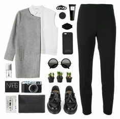 perfect outfit in black&white..