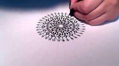Black and White Mandala ~ Valentina Zen Art