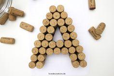 DIY 3D Buchstaben aus Korken 2