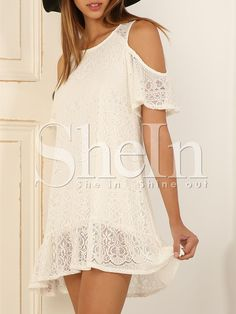 Shop White Off The Shoulder Lace Dress online. SheIn offers White Off The Shoulder Lace Dress & more to fit your fashionable needs.