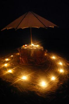 Image detail for -Our romantic table for two on the beach