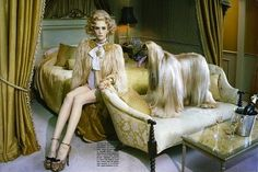 """The Terrier and Lobster: """"My Own Dog"""" by Miles Aldridge for Vogue Gioiello"""