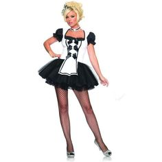 Leg Avenue's Mistress Maid adult's black and white French maid fancy dress costume will have you looking sexy and running for your duster! See full description and size chart below. Cosplay Maid, Cosplay Outfits, Anime Cosplay, Maid Fancy Dress, Maid Dress, Maid Halloween, Adult Halloween, Halloween Costumes, Halloween Ideas