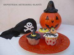 """Cupcakes-Halloween Facebook: """"Repostería Artesanal Gladys"""""""