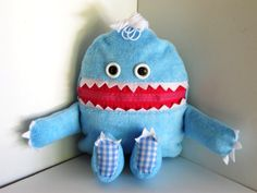 Cuddle Monster Pillow Pal BOOBOO BABY zipper by MostlyMonstersCV, $27.95