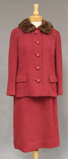 1960's Suit with Mink Collar