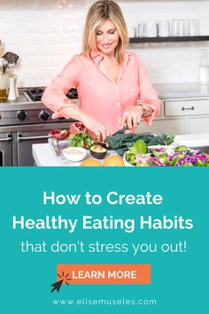 Routines that only happen when life is going smoothly aren't very sustainable. Check out this blog post from holistic nutrition expert, Elise Museles, to learn more about creating healthy eating habits that are sustainable even when life is stressful! If trying to eat healthy is stressing you out, you'll love these helpful heathly eating ideas. | healthy living tips | eating healthy tips | healthy lifestyle tips |
