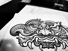thai tattoo by jack release tattoo release tattoo maori thailand ทศกัณฐ์ Line ID:jack010829 Facebook:Jack Manop