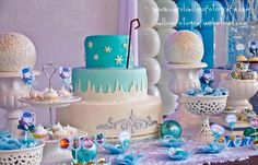Disney's Frozen Birthday Party Ideas, Cake, and Decorations