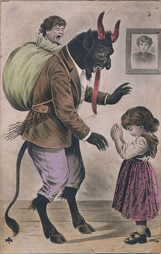Such cards have been exchanged in Europe since the 1800s and were particularly popular in the early part of the 20th century, often accompanied with the phrase Gruß vom Krampus (Greetings from the Krampus). 71RLNh8Pl9L