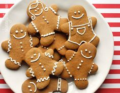 Gina's Skinnytaste Lowfat Gingerbread Cookies: http://www.skinnytaste.com/2011/12/low-fat-gingerbread-cookies.html