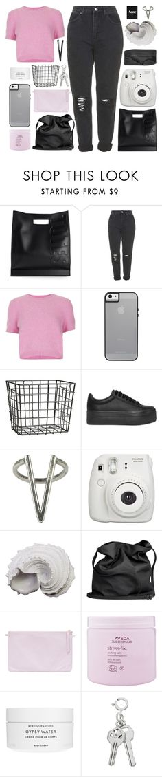 """WATCHING EVERY STEP"" by constellation-s ❤ liked on Polyvore featuring 3.1 Phillip Lim, Topshop, H&M, Jeffrey Campbell, The 2 Bandits, Fujifilm, Urban Trends Collection, Ann Demeulemeester, Aveda and Byredo"