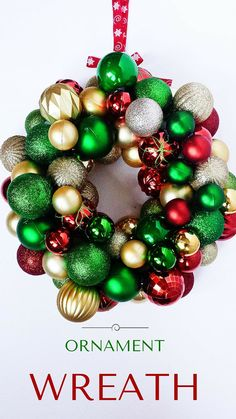 Dollar Tree Ornament Wreath Made for Under $15