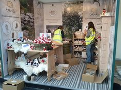 Setting up the stand at Chelsea Flower Show 2013
