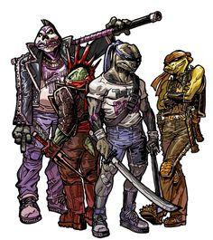 Teenage Mutant Punkrock Turtles by Aluisio Cervelle Santos
