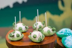 Egg cake pops from Prehistoric Dinosaur Birthday Party at Kara's Party Ideas. See the preserved details at karaspartyideas.com! Dinosaur Cake Pops, Dinosaur Birthday Cakes, Dinosaur Party, 1st Boy Birthday, First Birthday Parties, Birthday Party Decorations, Baby Shower Cake Pops, Wonderland Party, Party Ideas